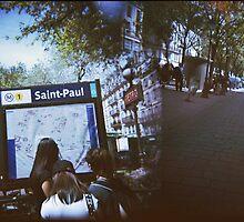 Paris Metro Saint Paul - Holga Double Exposure by istillshootfilm
