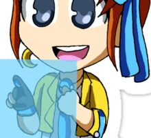 Athena and Widget Sticker
