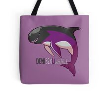 Demisexuwhale - with text Tote Bag
