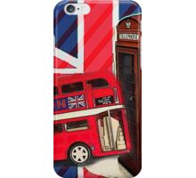 union jack london bus vintage red telephone booth iPhone Case/Skin