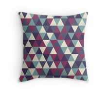 Retro geometric pattern in cold gamma Throw Pillow