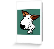 Ginger Ears English Bull Terrier Puppy Greeting Card