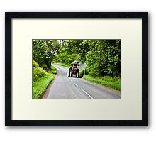 Along The Country Road Framed Print