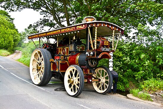 Steam Traction Engine #1 by Trevor Kersley
