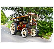 Steam Traction Engine #1 Poster