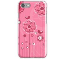 Floral Decor Colorful Vector Illustration iPhone Case/Skin