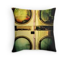 4 of them : the coin wash  : ( Trailer Park America Series) Throw Pillow