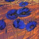 blauer Mohn by HannaAschenbach