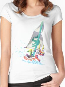 Voyaging ~ WindWaker Women's Fitted Scoop T-Shirt