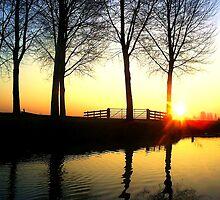 Polder sunrise by Weychan