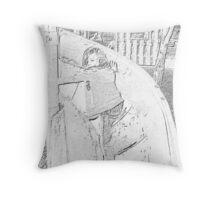 Playground Charcoal Throw Pillow