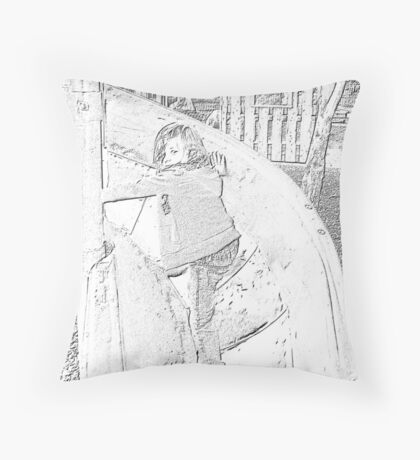 Playground Charcoal Throw Pillow