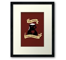 Honey Badger DOES Cares Framed Print