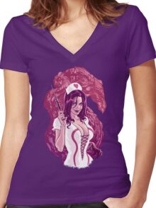 Sheila the Healer Women's Fitted V-Neck T-Shirt