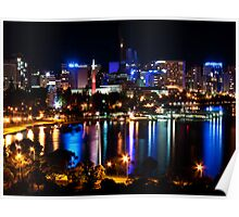 perth city by night Poster