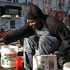 busker, manhattan. new york city by tim buckley | bodhiimages