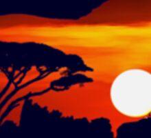 Serengeti lion Sticker