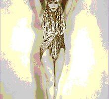 "Vintage French Beauty  ""Veiled Dancer"" by Virinia  Downham"
