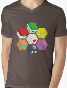 Nintendo Cubed Mens V-Neck T-Shirt