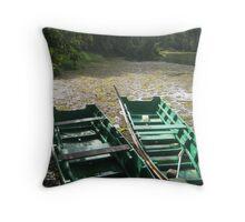 Boats, Borneo Throw Pillow
