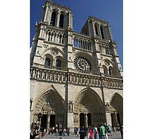 Notre Dame de Paris spring facade Photographic Print
