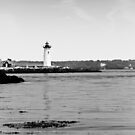 Lighthouse Newcastle NH by Edward Myers