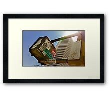 Walk, Wait and Leave Your Mark Framed Print
