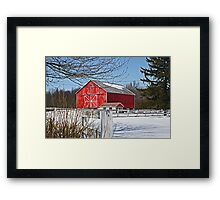 Now That's a Red Barn! Framed Print