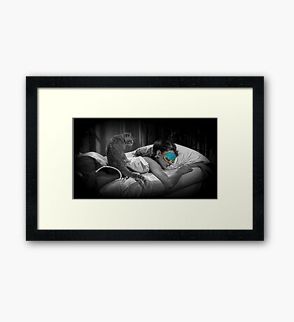 Holly and Cat - Breakfast at Tiffany's Framed Print