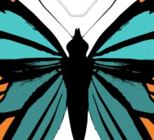 Butterfly in Teal and Orange Sticker