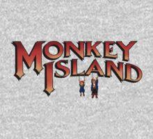 Monkey Island in Chains One Piece - Short Sleeve