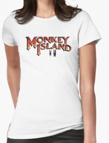 Monkey Island in Chains Womens Fitted T-Shirt