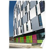 Vibrant Colours, University Campus, Ipswich Poster