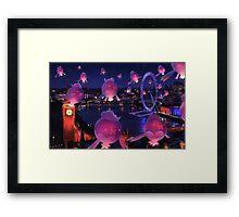 Lights Over London Framed Print