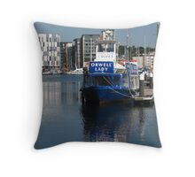 The Orwell Lady, Ipswich Waterfront Throw Pillow