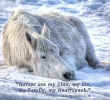 Snow Drifting w/ Horses are My Clan Quote by Skye Ryan-Evans