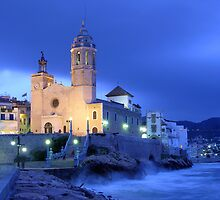 Sitges church  by Josep M Penalver