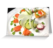 Smoked Trout with Friends Tricolore Greeting Card