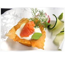 Vol-Au-Vent With Smoked Trout and Radish Cress Poster