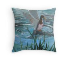 SPLASH  DOWN / or MAKING WAVES Throw Pillow