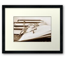 Reading Objects Framed Print