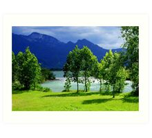 Clouds River and Light Art Print
