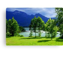 Clouds River and Light Canvas Print