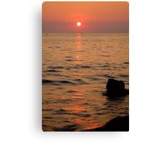 Croatian sunsets Canvas Print