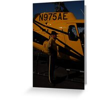 Resuce copter pilot Greeting Card