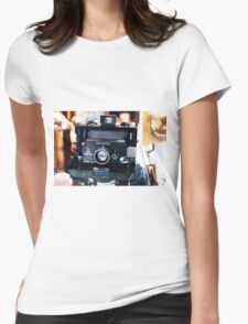 Reporter Camera Womens Fitted T-Shirt