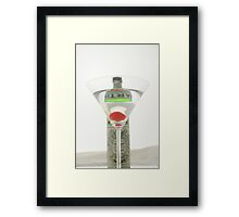 a Martini Framed Print