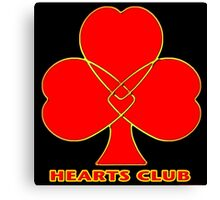 Hearts Club Canvas Print