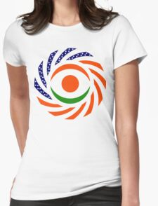 Niger American Multinational Patriot Flag Series Womens Fitted T-Shirt