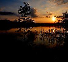 Sunset at Lake Kochelsee 03 by Daidalos